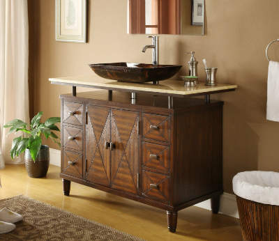 48 Inch Verdana Vessel Sink Bathroom Vanity