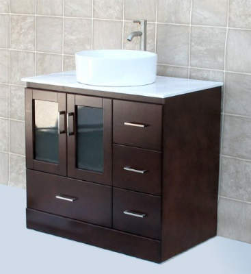 solid wood 36 inch bathroom vanity cabinet white tech stone