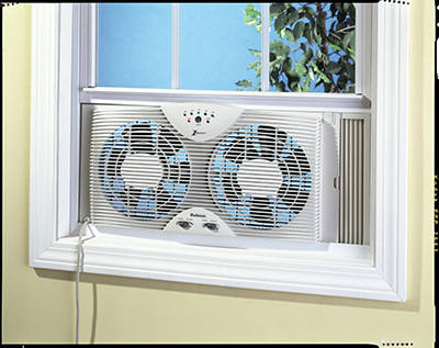 Holmes Dual Blade Twin Window Fan With One Touch Thermostat. Best bathroom exhaust fan reviews