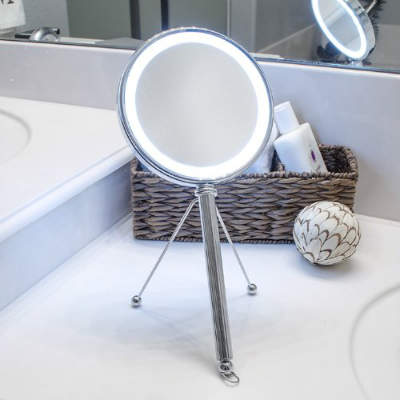 LED Lighted Makeup Vanity Mirror With Adjustable Stand