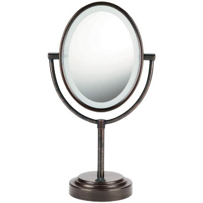 Oval Double Sided Lighted Mirror