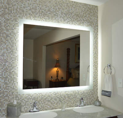 Side Lighted LED Bath Vanity Mirror - Lighted Mirror Vanity Roselawnlutheran
