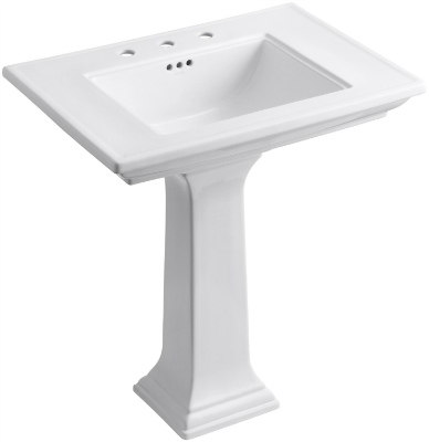 KOHLER K 2268 8 0 Memoirs Pedestal Bathroom Sink