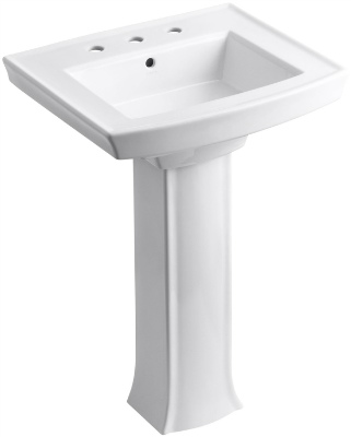 KOHLER K 2359 8 0 Archer Pedestal Bathroom Sink