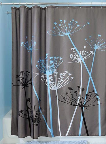 interdesign thistle shower curtain this thistle shower curtain will