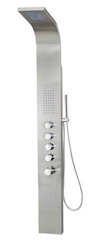 Decor Star 004 SS Stainless Steel Rainfall Shower Panel Rain Massage System Thermalstatic Faucet With Jets Hand Shower B0071FAKZM