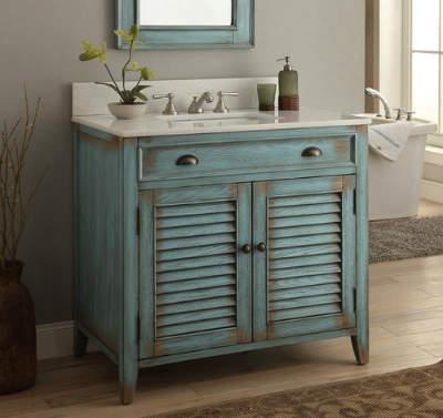 36 inch cottage look bathroom sink vanity cabinet