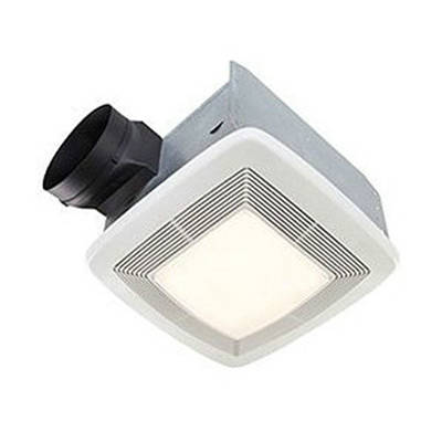 broan model qtxe110flt 110 cfm 42 watt fluorescent light ultra silent bath fan light - Bathroom Exhaust Fan With Light