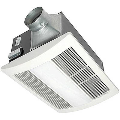 Panasonic FV 11VHL2 WhisperWarm 110 CFM Ceiling Mounted Fan Heat Light  Night Light Combination White, Broan 757SN Bathroom ...