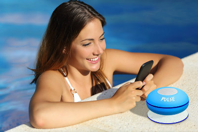 CSJ Pulse Wireless Waterproof Bluetooth Shower Speaker