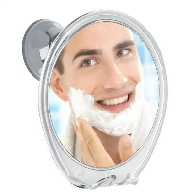 3X Magnifying Fogless Shower Mirror
