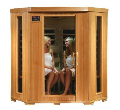 4 Person Corner Sauna FAR Infrared 10 Carbon Heaters