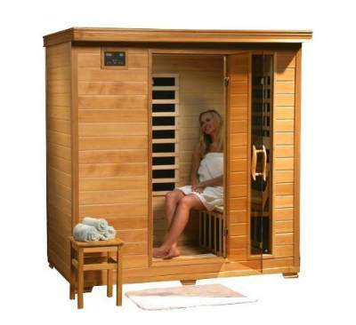 4 Person Sauna Heat Wave Hemlock 9 Carbon Infrared Heaters