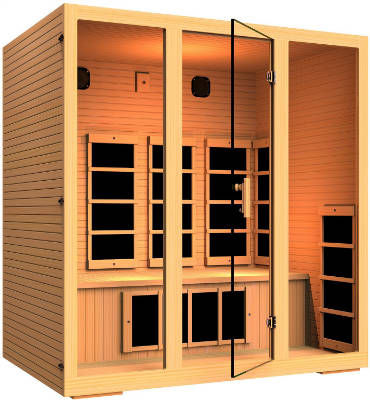 JNH Lifestyles Joyous 4 Person Far Infrared Sauna 9 Carbon Fiber Heaters