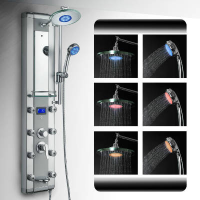 AKDY 5333D Rain Style System With 3 Colors LED Shower Panel