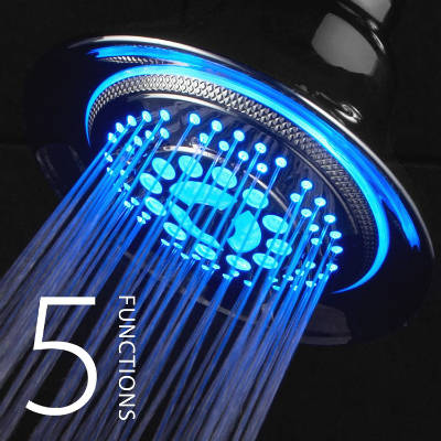 DreamSpa Water Temperature Controlled Color Changing LED Shower Head