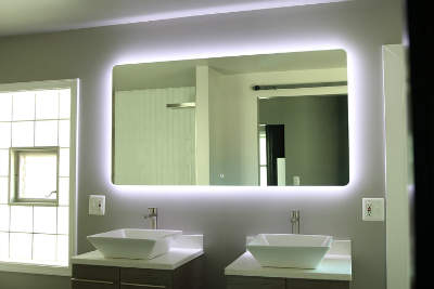 Best lighted vanity mirror reviews in 2018 backlit led light bathroom vanity sink mirror aloadofball Images