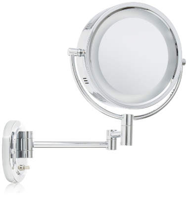 Lighted Makeup Mirror With 5x Magnification