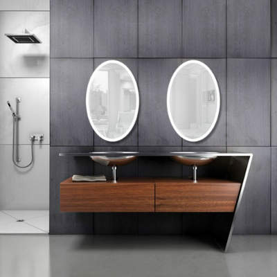 Best lighted vanity mirror reviews in 2018 oval led lighted bathroom mirror with defogger aloadofball Choice Image