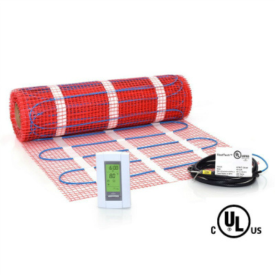 HeatTech Electric 40 Sqft Mat Kit Radiant Floor Heat Heating System