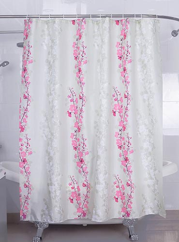 Magic Vida Decorative Flowers Shower Curtain