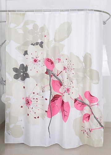 Magic Vida Decorative Lush Flowers Peach Tree Shower