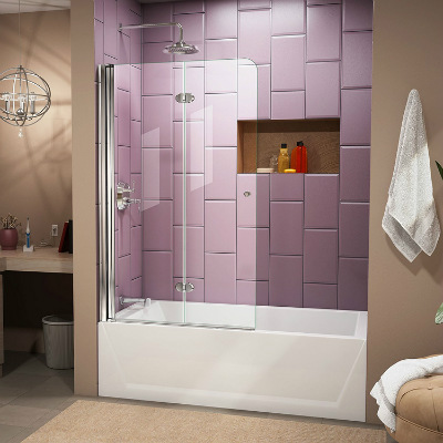 DreamLine Aqua Fold Frameless Hinged Tub Door
