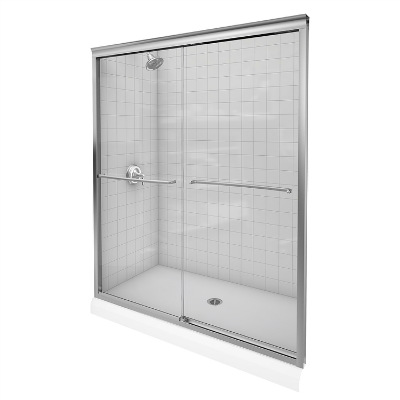 KOHLER K 702207 L NX Fluence Glass Bypass Shower Door
