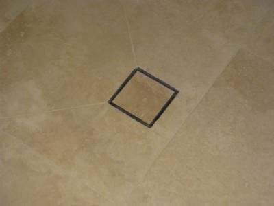 LUXE Stainless Steel Square Tile Drain