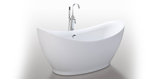 HelixBath Eleusis Freestanding Acrylic Bathtub