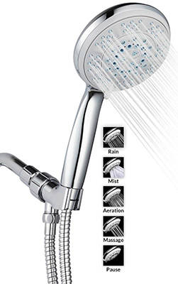 A FlowTM 5 Function Luxury 5 Handheld Shower Head System Best