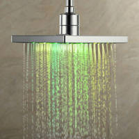 LightInTheBox 8 Inch 7 Colors Changing LED Contemporary Shower Faucet Head