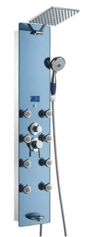 rain shower head with wand. Blue Ocean Stainless Steel SPV878392H Shower Panel With Rainfall Head Best Reviews in 2017