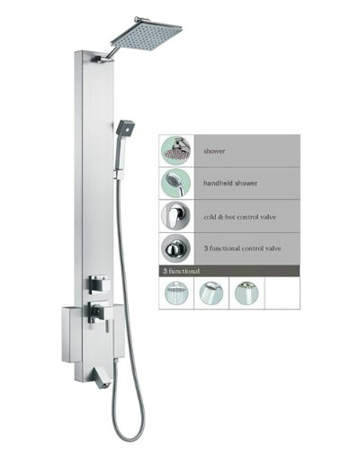 Ocean Stainless SP822322 Shower Rainfall, Blue Ocean SP822322 Shower Panel  Tower With