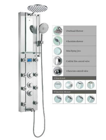 Stainless SPV962332 Thermostatic Rainfall Adjustable
