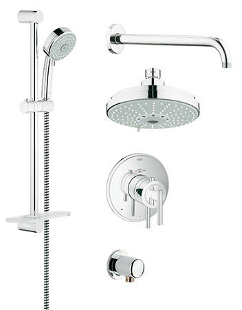Grohe 35056000 GrohFlex Timeless THM Shower Set With Shower Head And Hand  Shower