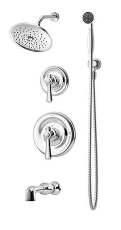 symmons degas tub shower unit